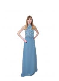 Платье серое с бисером