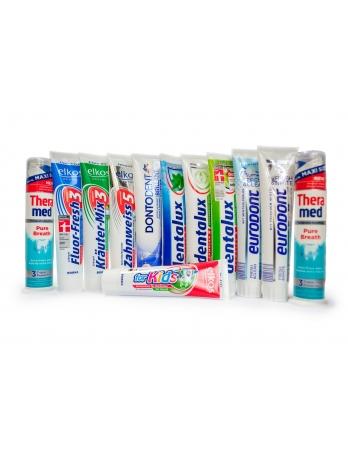 Зубная паста Dontodent, eurodont, dentalux, elkos и т.д.