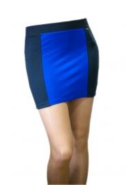 Юбка черная с синей полоской