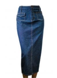Юбка джинсовая длинная