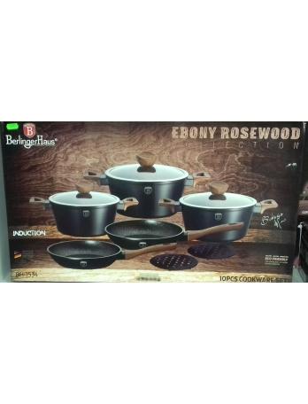 Набор посуды Berlinger Haus Ebony Rosewood Line 10 предметов (BH-1534)